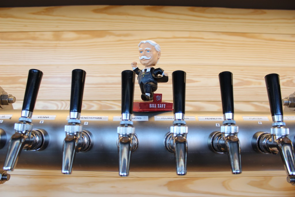 The Big Stick has Eight Tap Lines with frosty cold beer