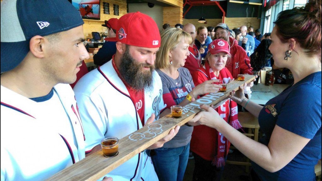 The Big Stick Shot Skis and Nationals Fans