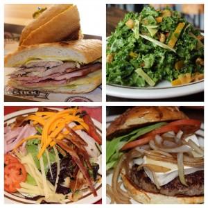 Classic Cuban Sandwhich, Citrus Kale Salad, Fielder's Choice Salad, Bistro Burger
